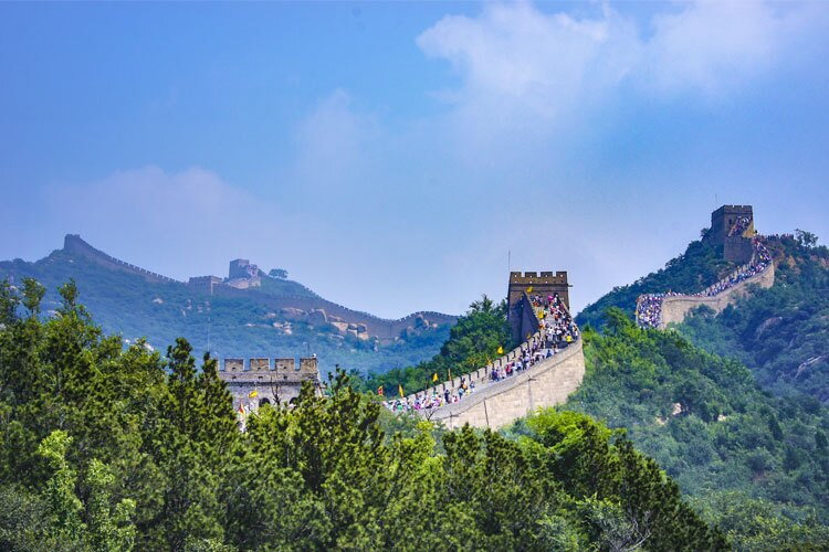 Visiting the Great Wall on holiday