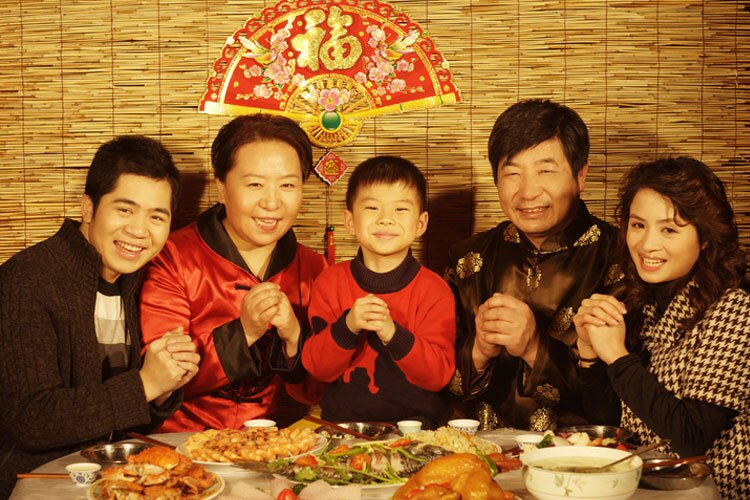 family reunion on Chinese New Year's Eve