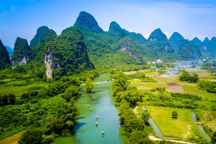 Yulong River in Summer
