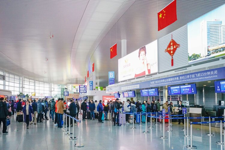 check-in at the airport
