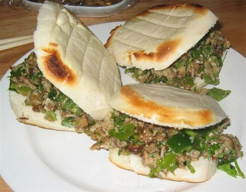 Roujiamo (finely Chopped Pork Stuffed In Baked Pancake)