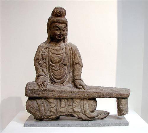 Bodhisattva playing the guqin