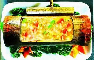 Rice In Bamboo In Li Style