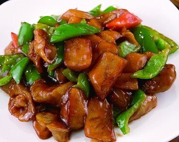 Fried Potato with Green Pepper and Eggplant