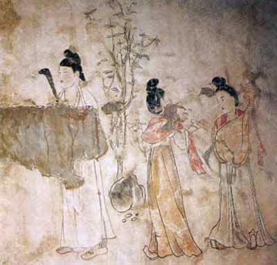 Facsimile Of Tang Mural