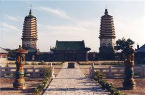Twin Towers in Chongxing Temple