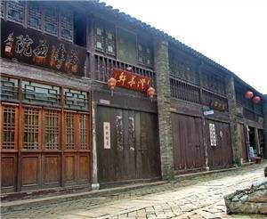 Ancient Street in the Style of the Song and Yuan Dynasty