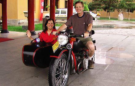 Vintage Sidecar Motorcycle