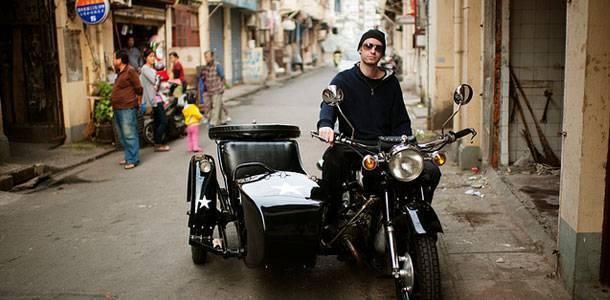 Vintage Sidecar Motorcycle 边三轮