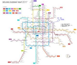 Beijing City Subway Map.Beijing City Transportation