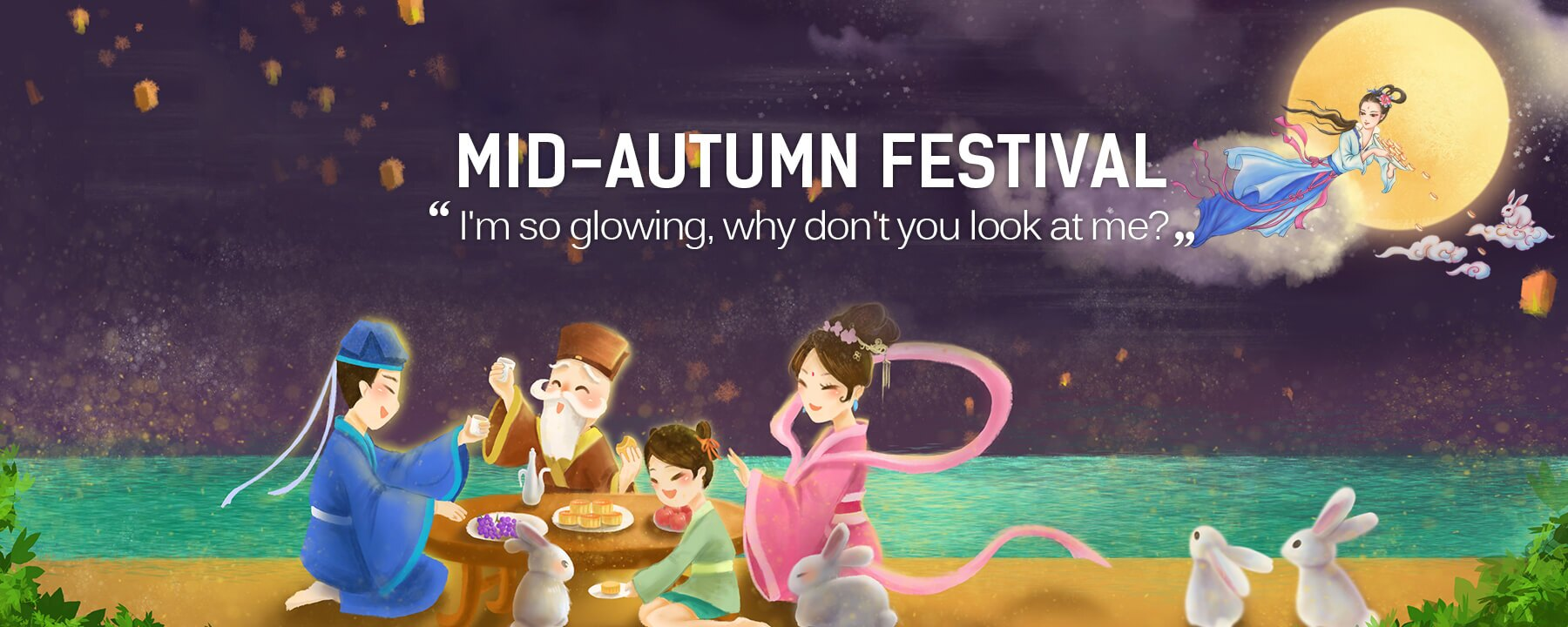 Chang'e Wishes You a Happy Moon Festival