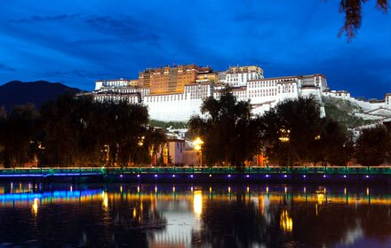 Lhasa by night