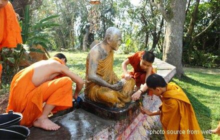 Washing the Buddha