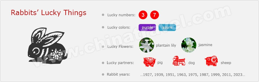 The rabbit year chinese zodiac forecasts for the year - Lucky color of the year 2019 ...