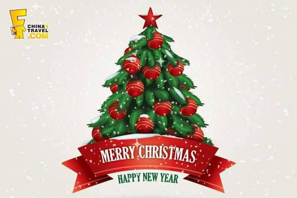 Free christmas new year greeting card christmas tree christmas card m4hsunfo