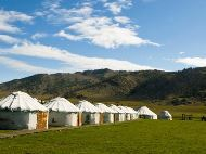 Tents on Agung Getty Prairie
