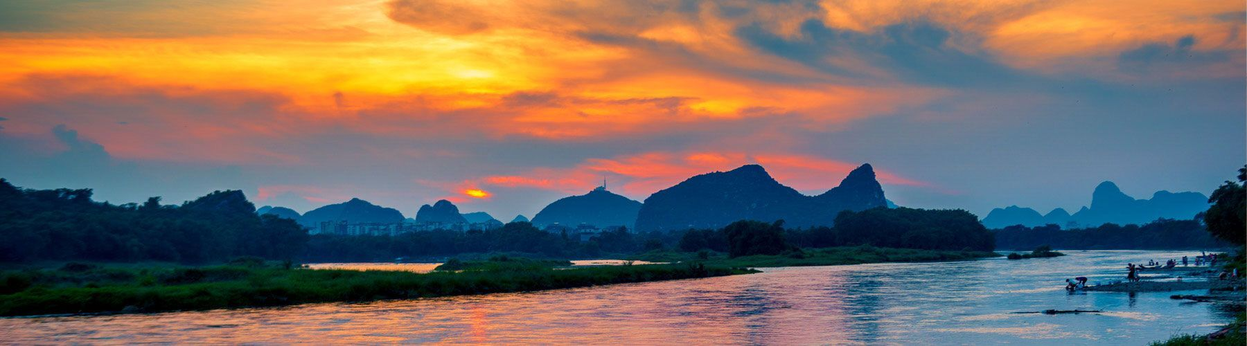Sunset in Li River