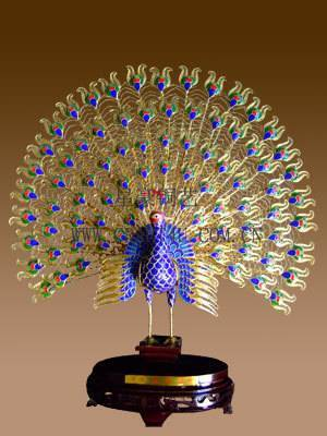 Cloisonné Peacok