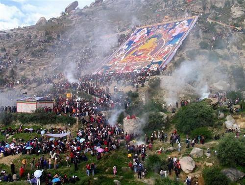 Tibet Grand Shoton Festival