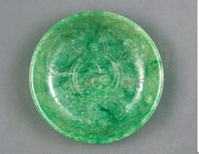Jade dish with Taiji motives